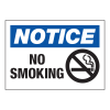 Hazard Warning Labels - Notice No Smoking (With Graphic)