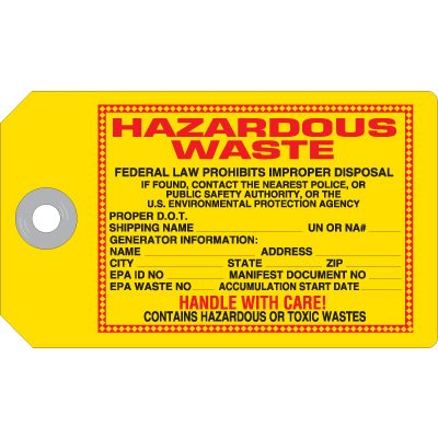 Hazardous Waste - Accident Prevention Ultra Tag