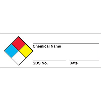 HazCom Labels-On-A-Roll- Chemical Name