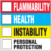 HazCom Labels-On-A-Roll- Flammability, Health, Instability, Personal Protection