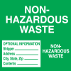 Hazwaste & Drum Labels-On-A-Roll - Non-Hazardous Waste