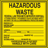 Hazwaste & Drum Labels-On-A-Roll - Hazardous Waste