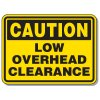 Heavy-Duty Construction Signs - Caution Low Overhead Clearance