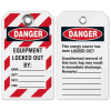 Heavy-Duty Lockout Tags - Equipment Locked Out By