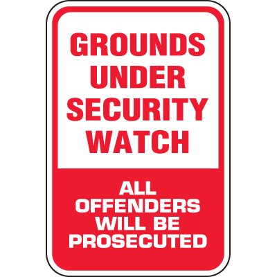 Heavy-Duty Property Protection Signs - Under Security Watch