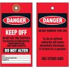 Danger Keep Off Tyvek Tag