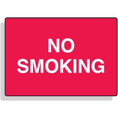 "Fiberglass Sign - No Smoking - 14"" x 10"""