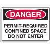 Fiberglass OSHA Sign - Danger - Permit Required Confined Space