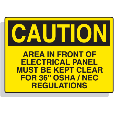 Premium Fiberglass OSHA Sign - Caution - Must Be Kept Clear
