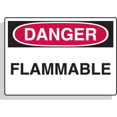Premium Fiberglass OSHA Sign - Danger - Flammable