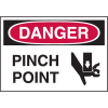 High Performance SetonUltraTuff™ Polyester Labels - Danger Pinch Point