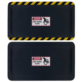 Hog Heaven Safety Message Anti-Fatigue Mats - Danger Keep Hands Clear
