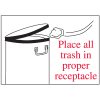Housekeeping Signs - Place All Trash In Proper Receptacle