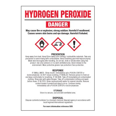 Hydrogen Peroxide - GHS Chemical Labels