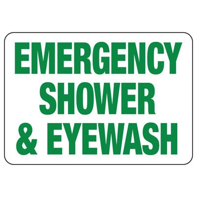 Emergency Shower And Eyewash Safety Signs