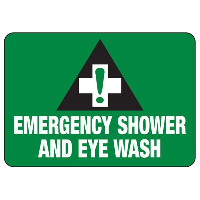 Emergency Shower & Eyewash - First Aid Sign
