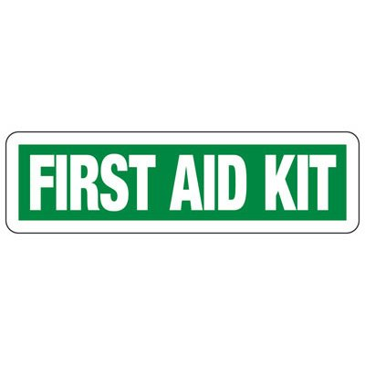First Aid Kit - Industrial First Aid Signs