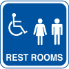 Handicap Accessible Rest Room Signs