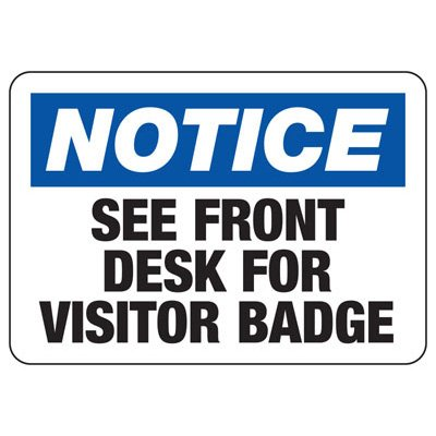 Badge And ID Signs- Visitor Badge