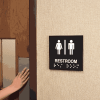 Restroom Braille Signs - Injection Molded Signs