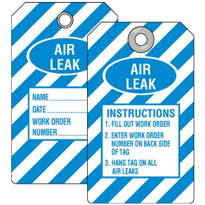 Air Leak Instructions Tag