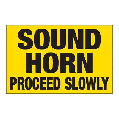 Interactive Sign Insert - Sound Horn