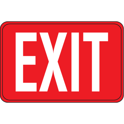 Interior Decor Fire Safety Sign - Exit