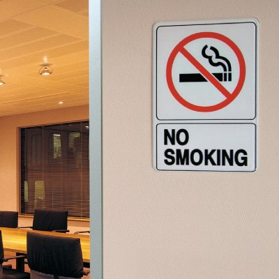 "No Smoking Signs - 7""W x 10""H Interior Signs"