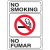 "No Smoking No Fumar - 7""W x 10""H Bilingual Sign"