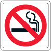 "No Smoking (Graphic Only) - 4""W x 4""H Decor Signs"
