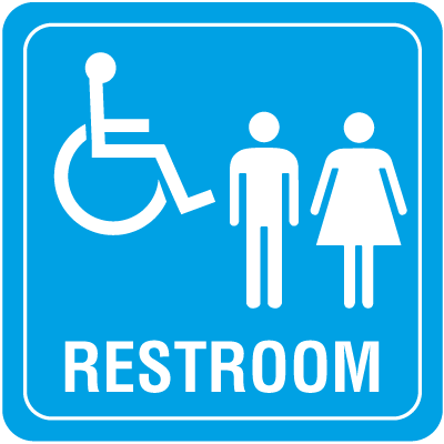 Handicap Accessible Restoom Interior Sign