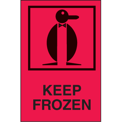 Keep Frozen International Shipping Labels
