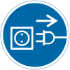 International Symbols Labels - Unplug Electrical Supply (Graphic)
