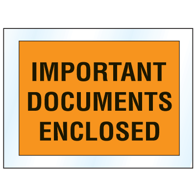 Invoice And Packing List Envelopes - Important Documents