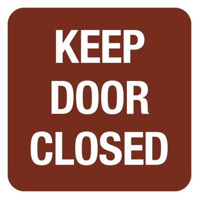 Keep Door Closed - Optima Office Policy Signs