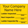 Semi-Custom Ladder Inspection Labels