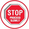 Lexan Heavy Duty Floor Markers- Stop Proceed Slowly