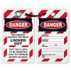 Danger Locked Out Look On Back Lockout Tag