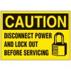 Lockout Hazard Warning Labels - Caution Disconnect Power
