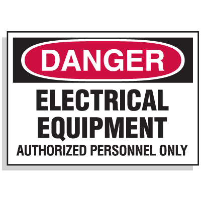 Lockout Hazard Warning Labels- Danger Electrical Equipment