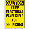 Lockout Hazard Warning Labels- Caution Keep Electrical Panel Clear