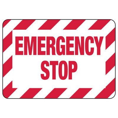 Lockout/Electrical Signs - Emergency Stop