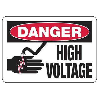 Danger High Voltage - Industrial OSHA Machine Hazard Sign