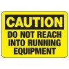 Do Not Reach Running Equipment - Industrial OSHA Machine Hazard Sign