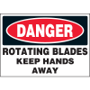 Machine Hazard Warning Labels - Danger Rotating Blades
