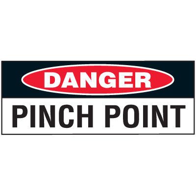 Machine Safety Write-On Labels - Danger Pinch Point