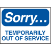 Temporarily Out of Service Sign - Magnetic