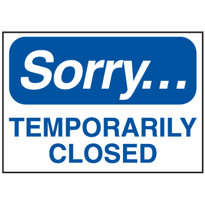 Magnetic Housekeeping Signs - Sorry... Temporarily Closed