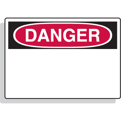 Magnetic OSHA Signs - Danger Header