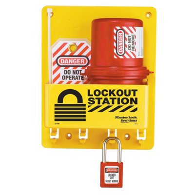 Master Lock® Compact Lockout Station, Plug